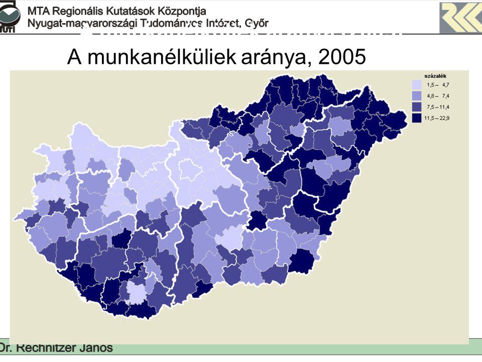 1000 lakosra jutó vándorlási különbözet 2002-2005