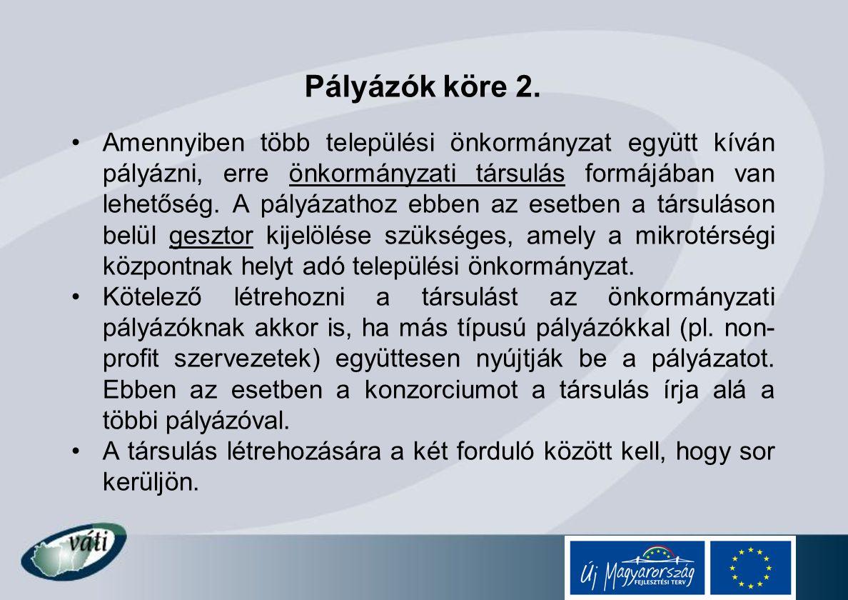 Adminisztratív információk Kérdéseiket az alábbi elérhetőségeken tehetik fel: E-mail: nfu@meh.hu Telefon: 06-40/638-638 Pályázati csomag letölthető: www.nfu.hu Interaktív működési kézikönyv: http://imk.nfu.hu VÁTI Kht.