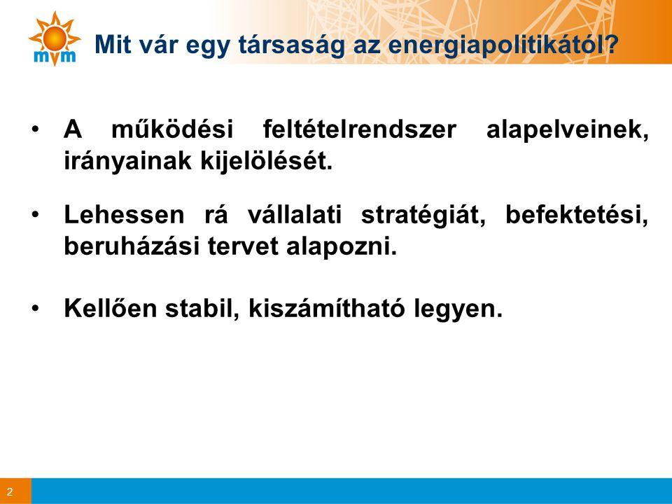 2 Mit vár egy társaság az energiapolitikától.