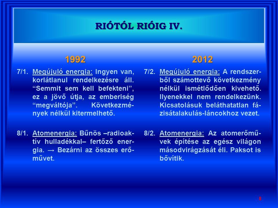 1992 Vízerőmű és vízlépcső építés: 9/1.Vízerőmű és vízlépcső építés: Dunaszaurusz , papírtigris sztálinista megalománia –mint közhangulat.