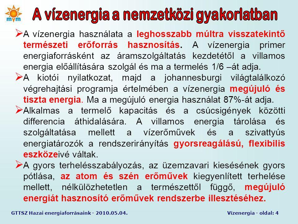 GTTSZ Hazai energiaforrásaink - 2010.05.04.Vízenergia - oldal: 5