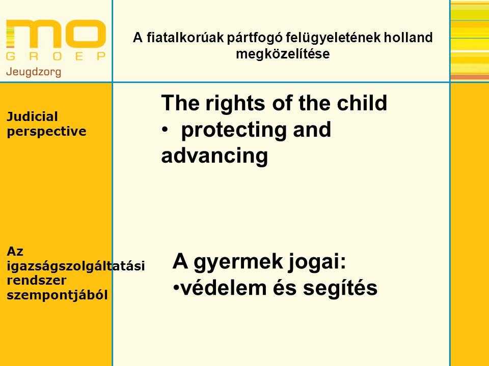A fiatalkorúak pártfogó felügyeletének holland megközelítése Judicial perspective Az igazságszolgáltatási rendszer szempontjából The rights of the chi
