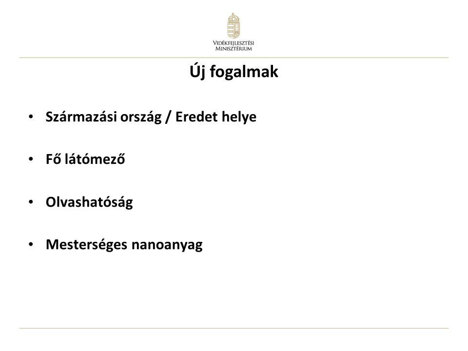 Bizottság feladatai – származás/eredet Származási ország, eredet megjelölés jelentés, 2013.