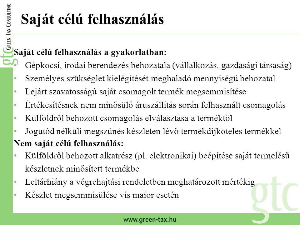 www.green-tax.hu Termékdíjtételek (2012): egyéb termékek Termékdíj (2011) Ft/kg Hasznosítási díj (2011) Ft/kg Termékdíj (2012) Ft/kg ?.