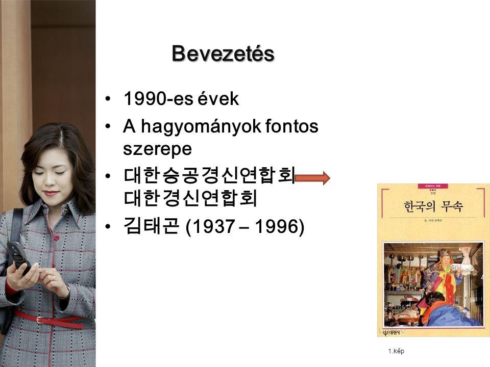 Bevezetés 1990-es évek A hagyományok fontos szerepe 대한승공경신연합회 대한경신연합회 김태곤 (1937 – 1996) 1.kép