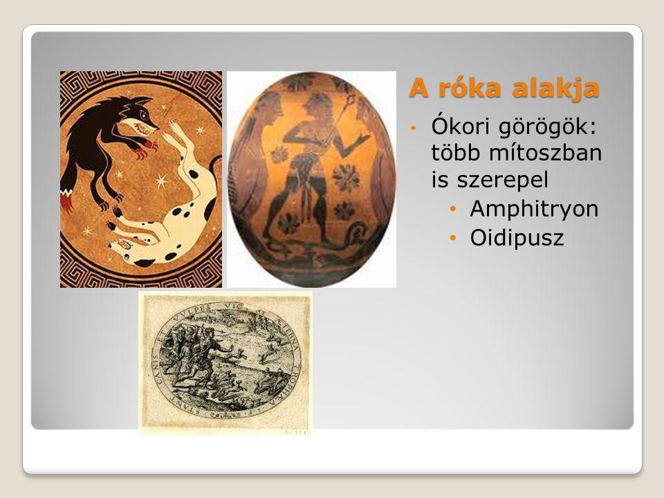 A róka alakja Ókori görögök: több mítoszban is szerepel Amphitryon Oidipusz