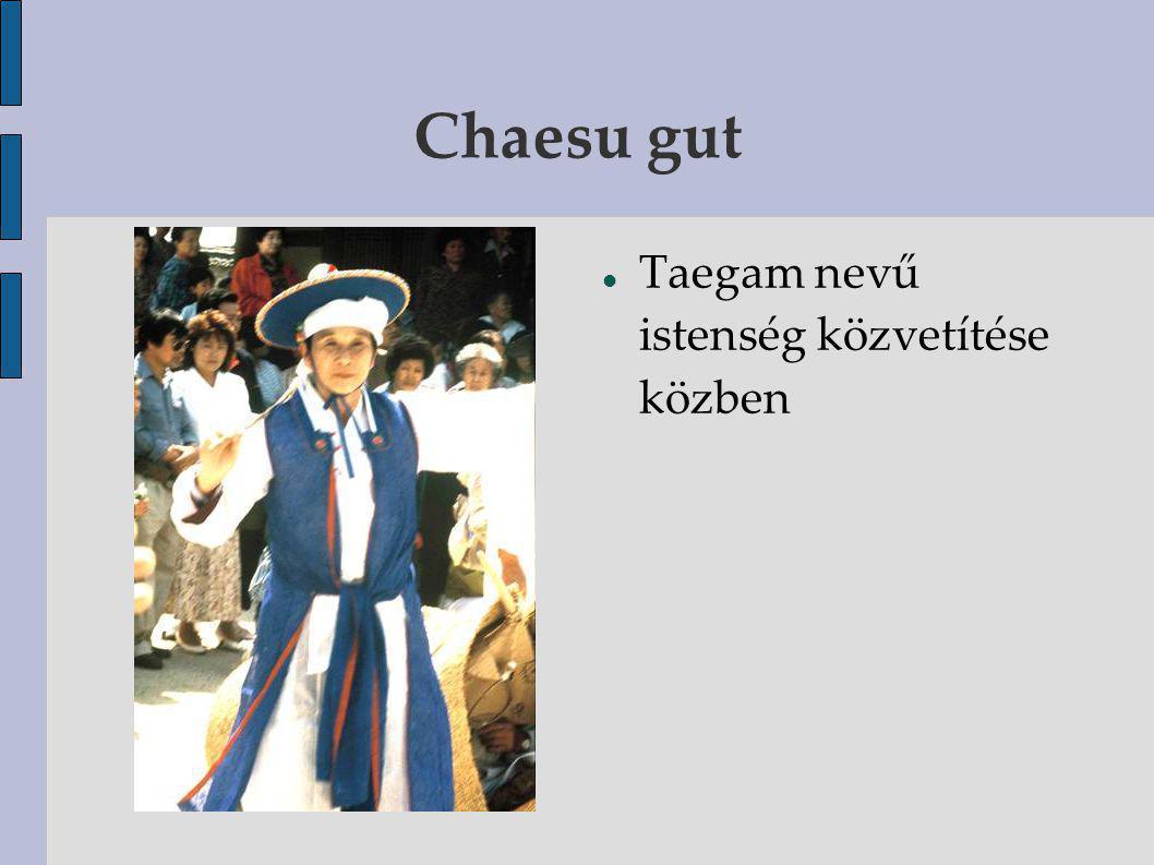 Chaesu gut Taegam nevű istenség közvetítése közben
