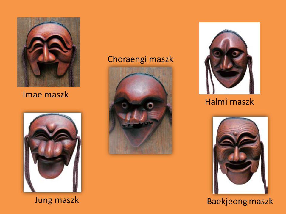 Imae maszk Choraengi maszk Jung maszk Halmi maszk Baekjeong maszk
