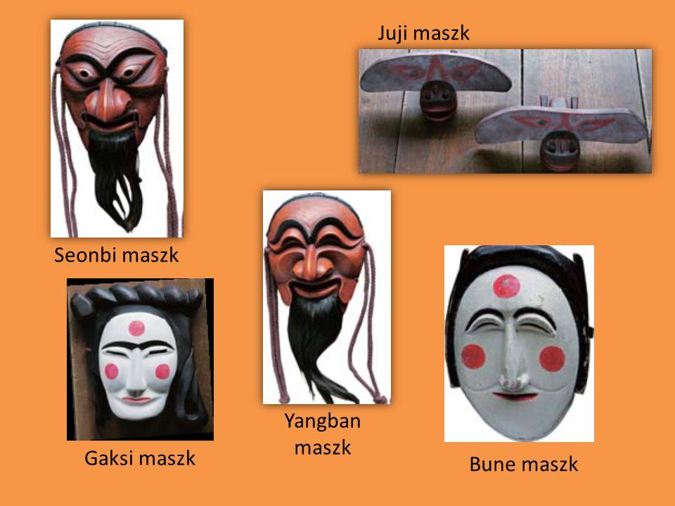 Seonbi maszk Yangban maszk Bune maszk Gaksi maszk Juji maszk