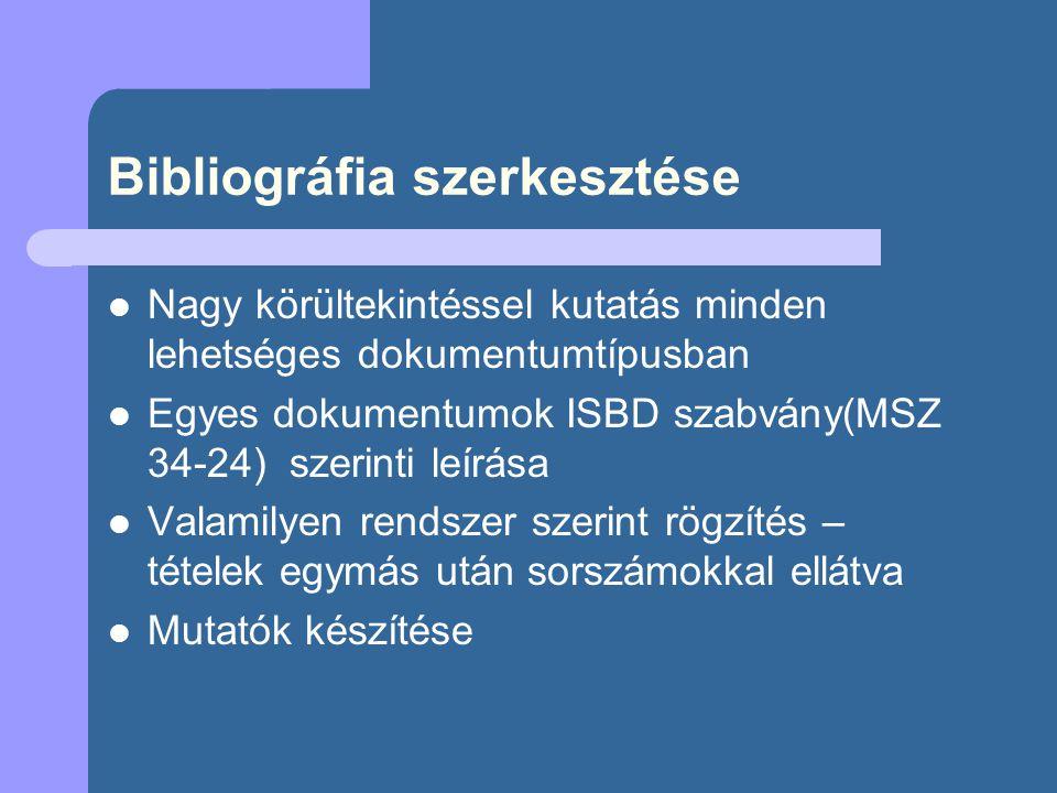 Magyar Nemzeti Bibliográfia - http://mnb.oszk.hu/ http://mnb.oszk.hu/