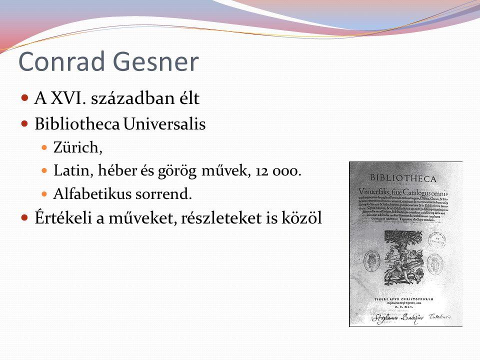 Conrad Gesner A XVI.