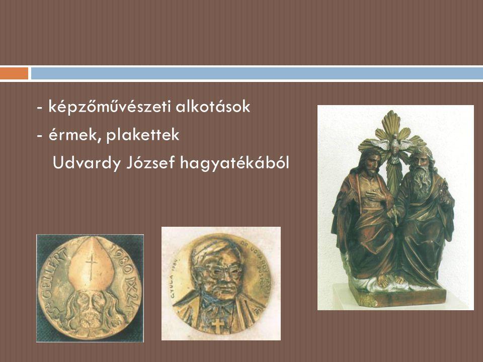  elhasználódott, divatja múlt tárgyak megőrzése  gyűjtés egyházmegyén belül - szerzetesrendek - főúri alapítású templomok - püspöki székhely - plébániák  restaurálás, konzerválás, számbavétel
