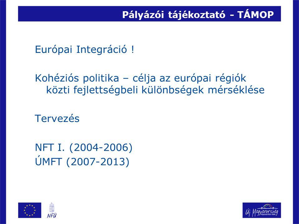 Pályázói tájékoztató - TÁMOP Európai Integráció .