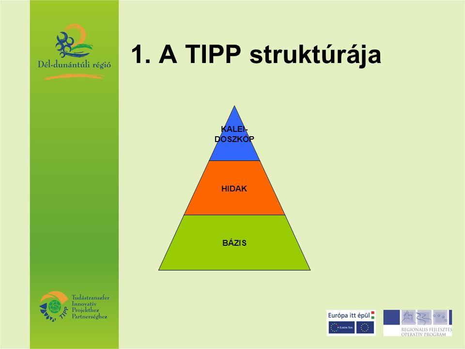 1. A TIPP struktúrája KALEI- DOSZKÓP HIDAK BÁZIS