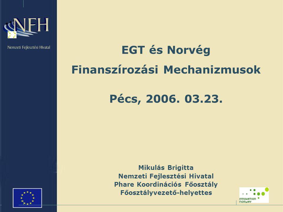 EGT és Norvég Finanszírozási Mechanizmusok Pécs, 2006.