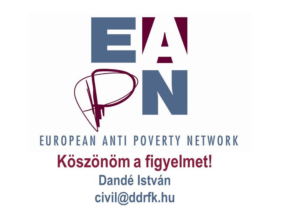 European Anti Poverty Network Köszönöm a figyelmet! Dandé István civil@ddrfk.hu
