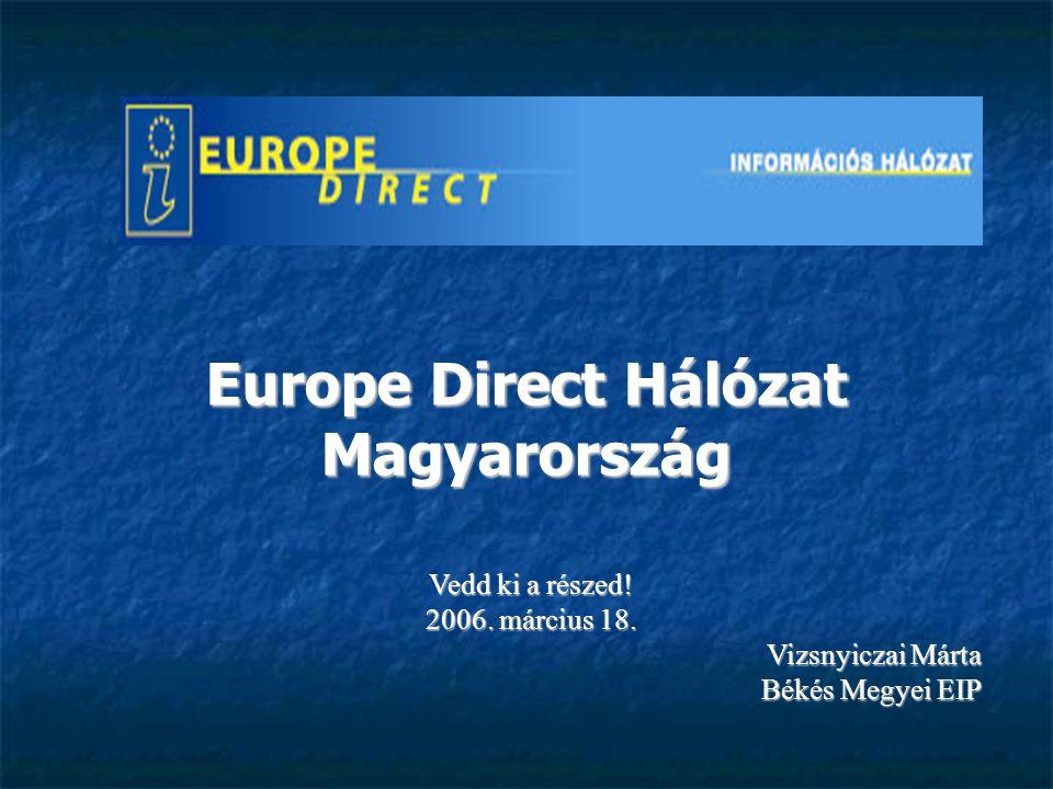 Háttér A Europe Direct Hálózat létrehozása A Europe Direct Hálózat létrehozása 2005.