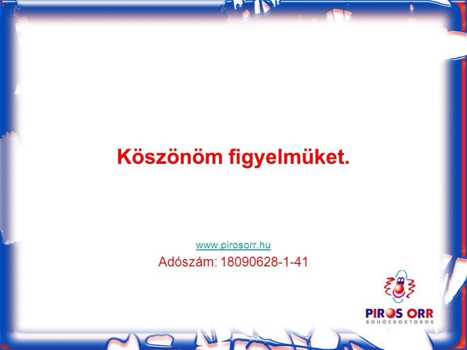 Köszönöm figyelmüket. www.pirosorr.hu Adószám: 18090628-1-41