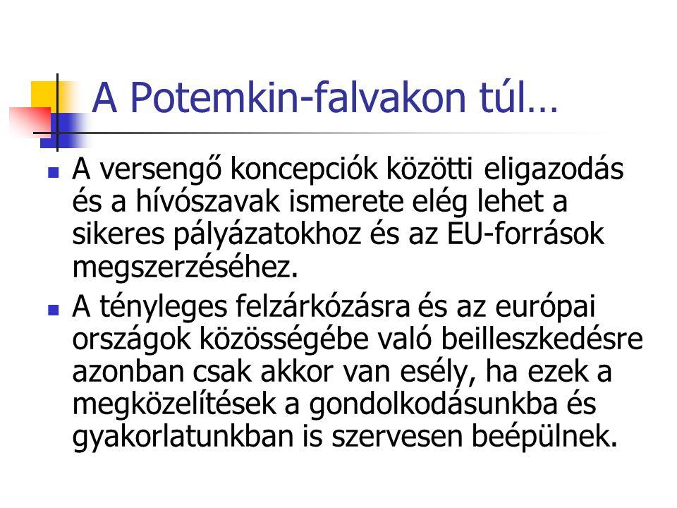 A Potemkin-falvakon túl… A versengő koncepciók közötti eligazodás és a hívószavak ismerete elég lehet a sikeres pályázatokhoz és az EU-források megszerzéséhez.