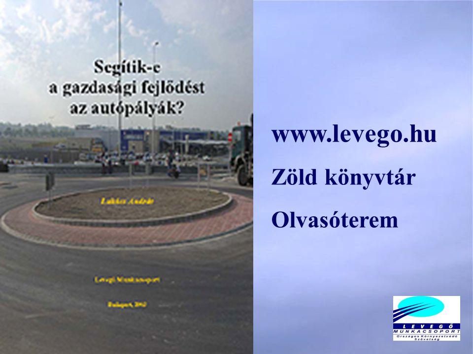 www.levego.hu Zöld könyvtár Olvasóterem