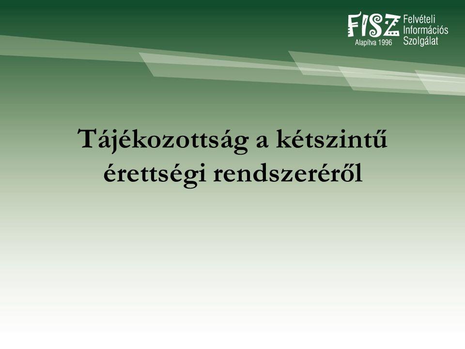 Felvételi Információs Szolgálat (FISZ) 1053 Bp.Veres Pálné u.