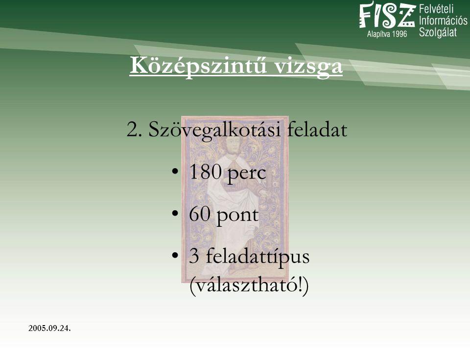 2005.09.24. Középszintű vizsga 2.