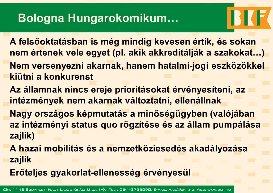 Bologna Hungarokomikum… A felsőoktatásban is még mindig kevesen értik, és sokan nem értenek vele egyet (pl.