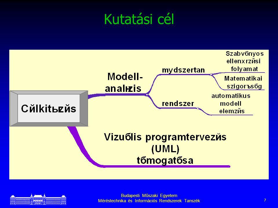 Budapesti Műszaki Egyetem Méréstechnika és Információs Rendszerek Tanszék 7 Kutatási cél
