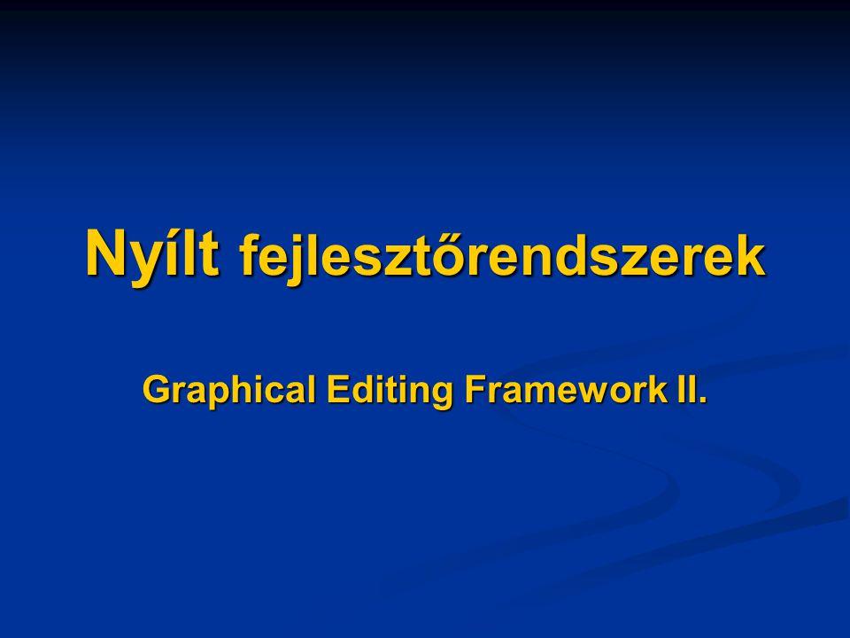 Nyílt fejlesztőrendszerek Graphical Editing Framework II.