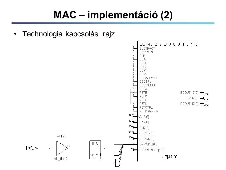 MAC – implementáció (2) Technológia kapcsolási rajz