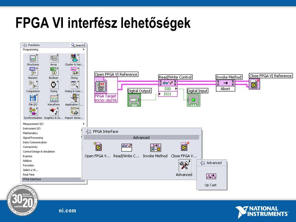 FPGA VI interfész lehetőségek