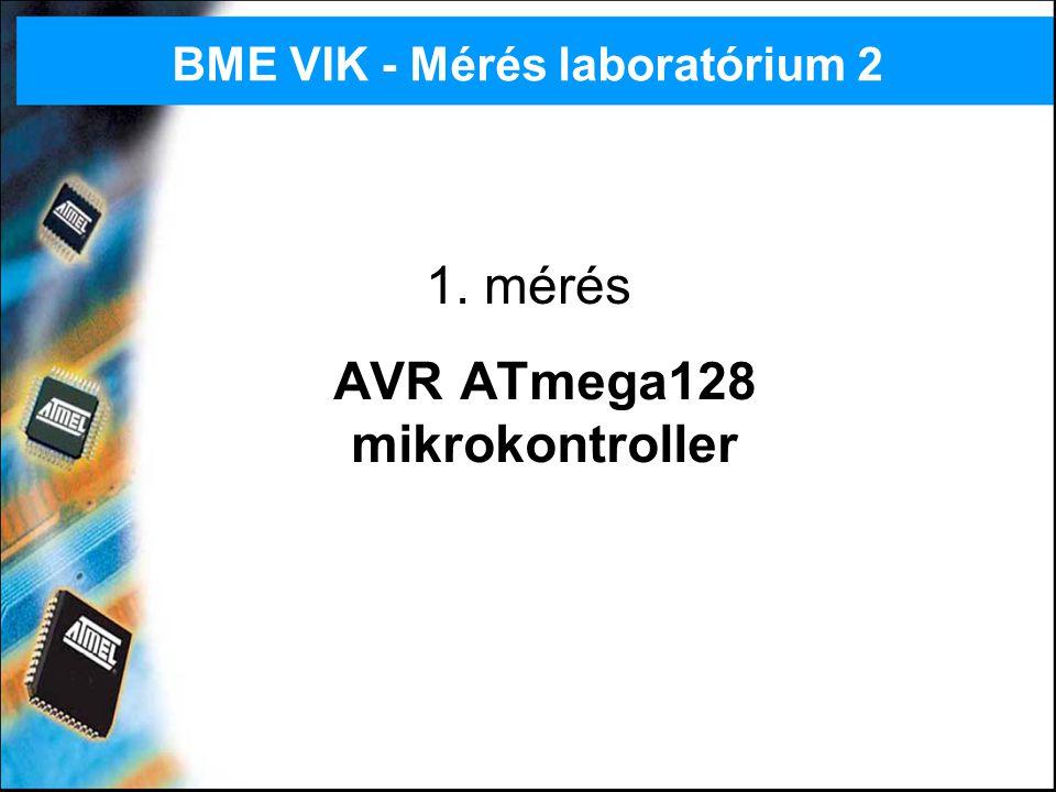 BME VIK - Mérés laboratórium 232 Megszakítások kezelése Egyszintű, egyszerű interruptrendszer Beérkező interrupt törli a globális megszakításengedélyező flaget, interruptból visszatérés (RETI) engedélyezi – nem kell még egyszer törölni / engedélyezni a rutinon belül.