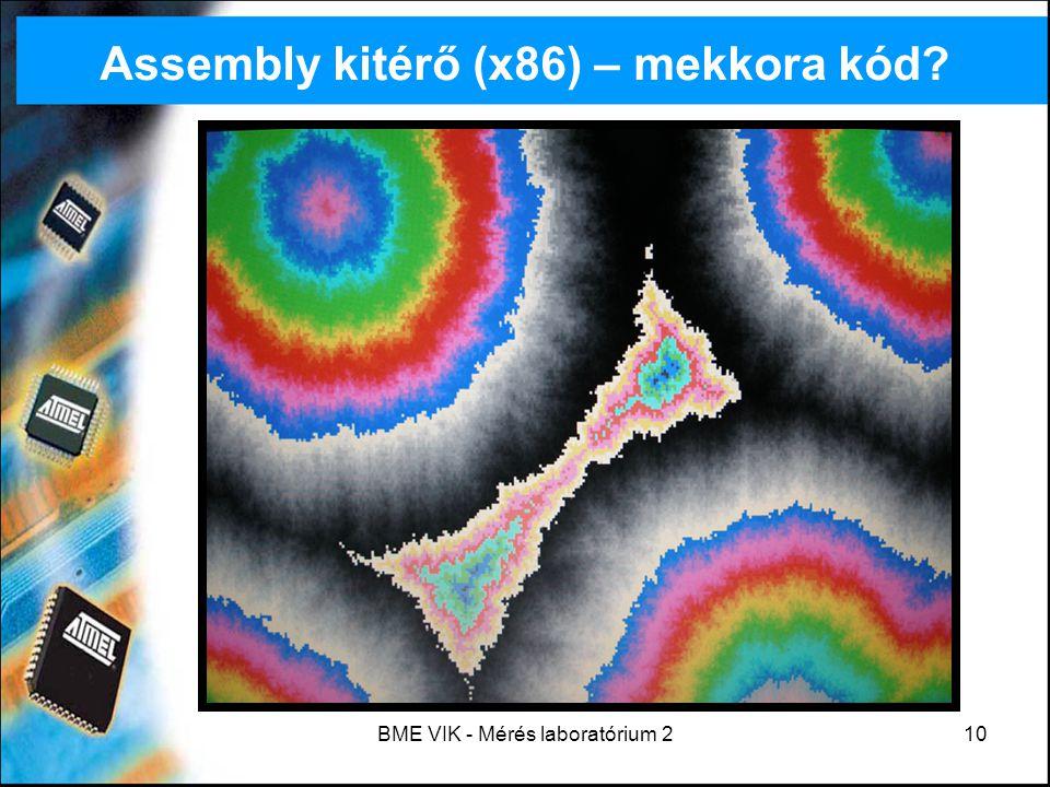 BME VIK - Mérés laboratórium 210 Assembly kitérő (x86) – mekkora kód?