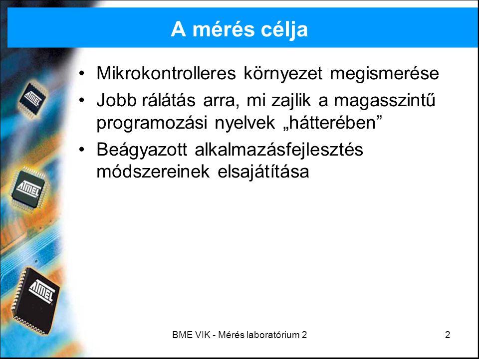 """BME VIK - Mérés laboratórium 213 Assembly bevezető Assembly = """"összeszerelés Alacsonyszintű programozási nyelv Architektúrafüggő (pl."""
