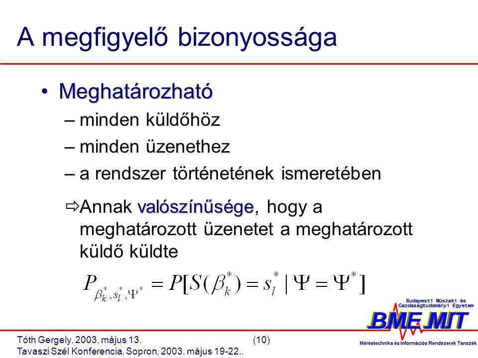 Tóth Gergely, 2003.május 13.(10) Tavaszi Szél Konferencia, Sopron, 2003.