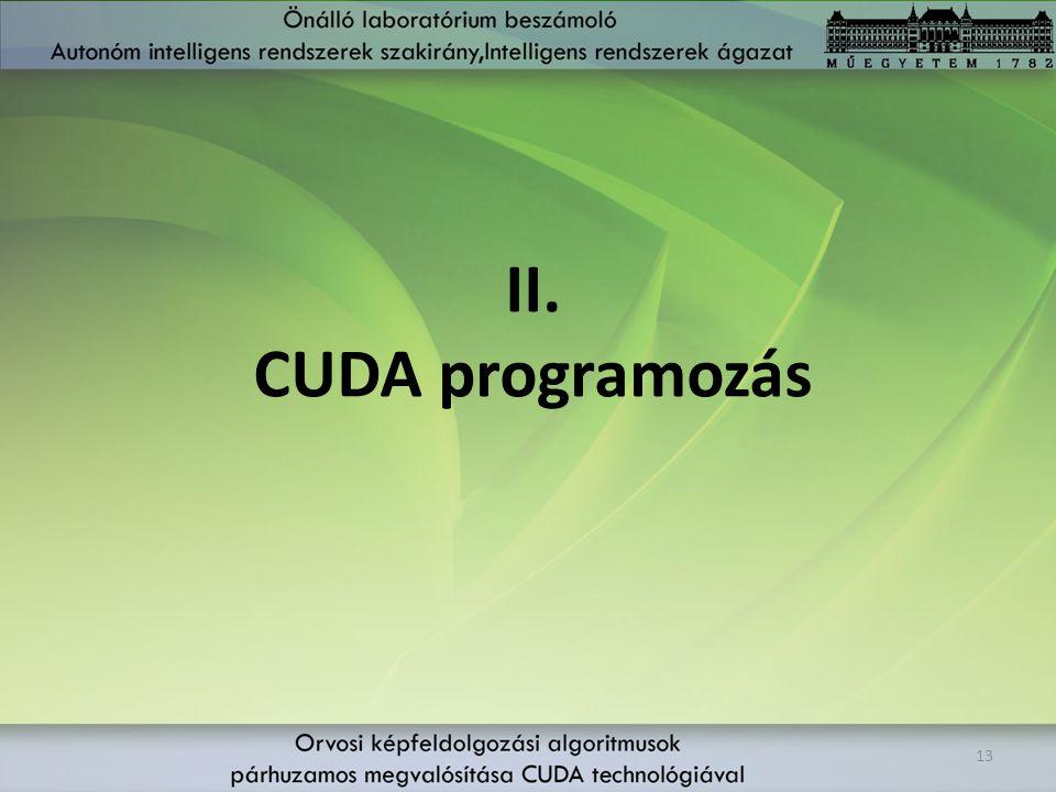 II. CUDA programozás 13