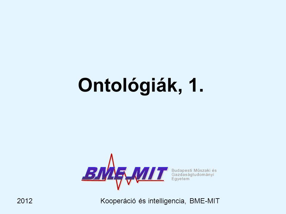 2012Kooperáció és intelligencia, BME-MIT Ontológiák, 1.
