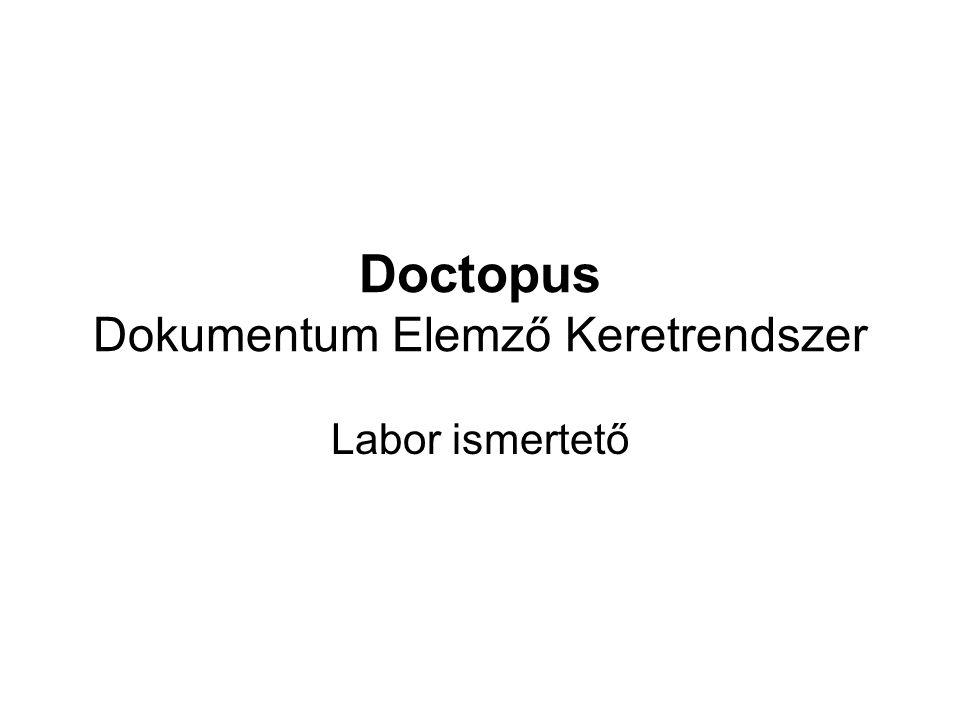 Doctopus Dokumentum Elemző Keretrendszer Labor ismertető