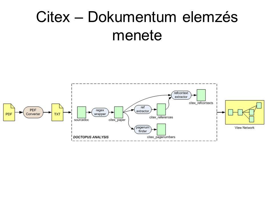 Citex – Dokumentum elemzés menete
