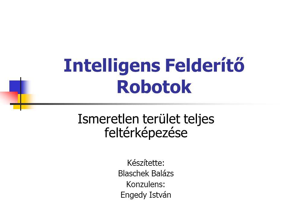Intelligens Felderítő Robotok Ismeretlen terület teljes feltérképezése Készítette: Blaschek Balázs Konzulens: Engedy István