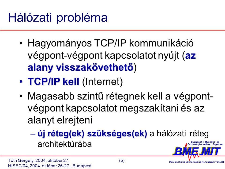 Tóth Gergely, 2004. október 27.(26) HISEC'04, 2004. október 26-27., Budapest GPSAA Implementáció