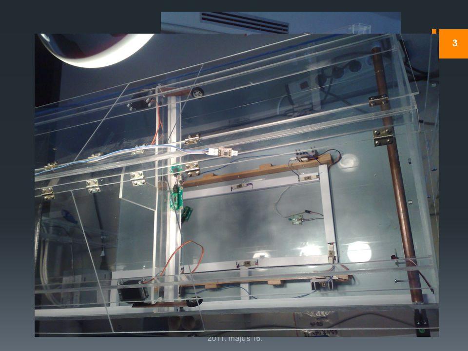 Feladatkiírás  PC-s grafikus interfész szenzorhálózatok monitorozásához  Konkrét környezet: intelligens üvegház 2011. május 16. 3  Szenzorok  Hőmé
