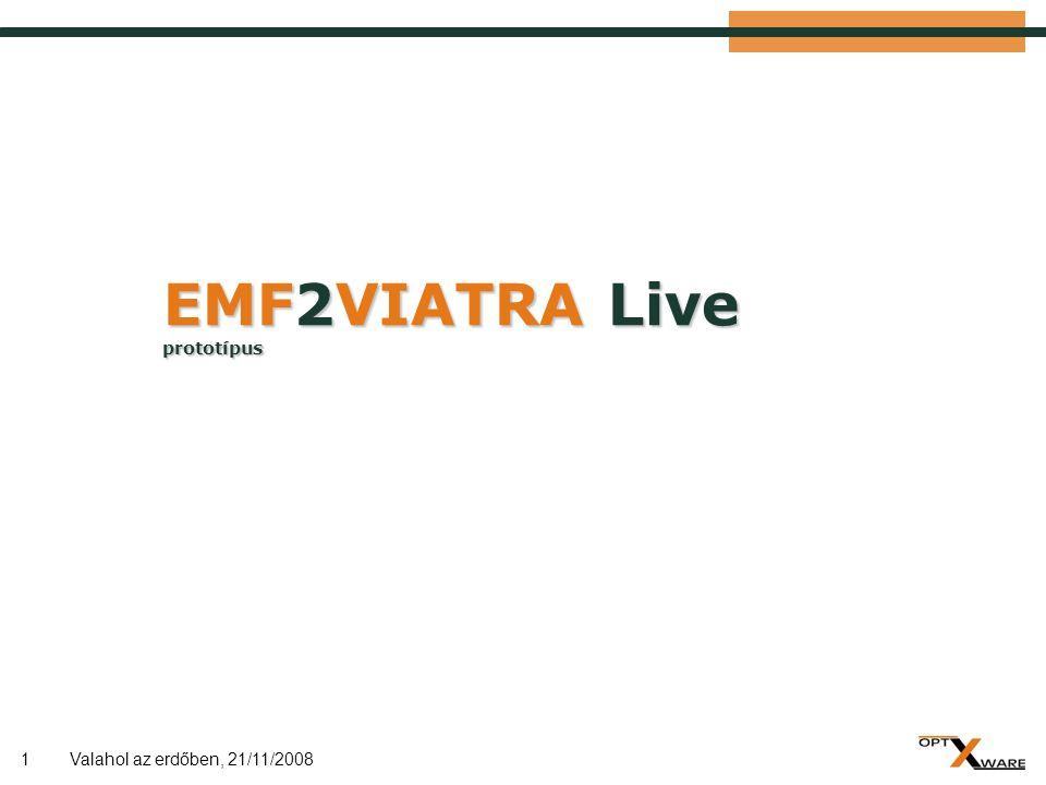 """2 Cél  Eclipse EMF előnyei:  Elterjedt, kiforrott technológia  Ipari alkalmazásokban is elfogadott  Viatra előnyei:  Lehetőség komplex modelltranszformációkra  Inkrementális mintaillesztés, triggerek  Cél: EMF """"működés Viatra modelltér felett  Lehetőleg minimális változtatások EMF oldalon  Folyamatos kétirányú szinkron az EMF EObject struktúra és a Viatra modelltér entitásai/relációi között  (Alternatív lehetőség: EMF feletti mintaillesztés közvetlenül ) Valahol az erdőben, 21/11/2008"""