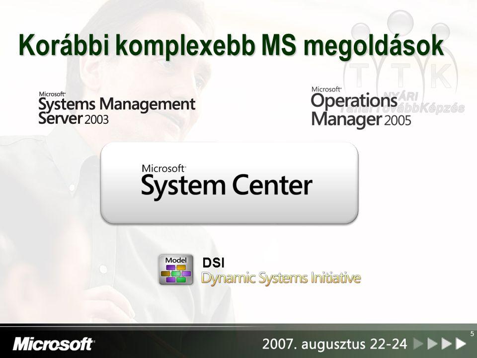 Korábbi komplexebb MS megoldások 5 DSI