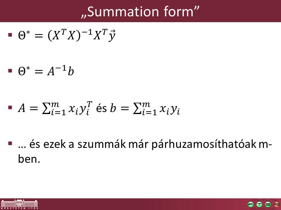 """""""Summation form"""