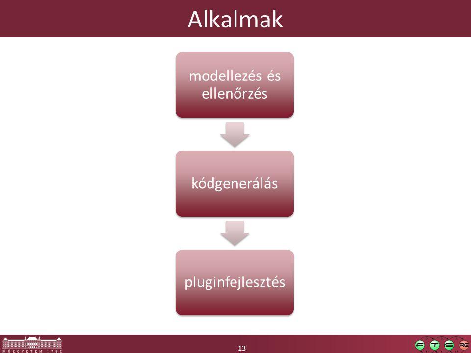 13 Alkalmak 13 modellezés és ellenőrzés kódgeneráláspluginfejlesztés