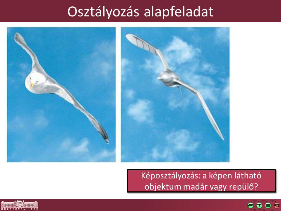 Osztályozás alapfeladat Képosztályozás: a képen látható objektum madár vagy repülő