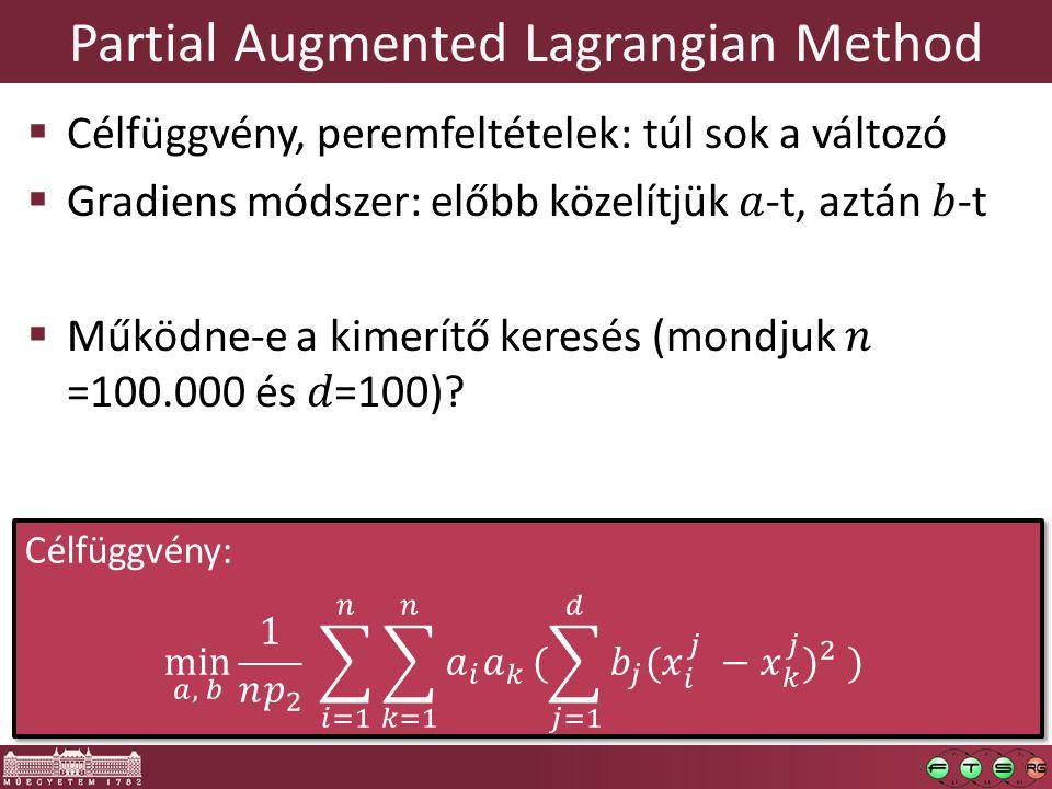 Partial Augmented Lagrangian Method