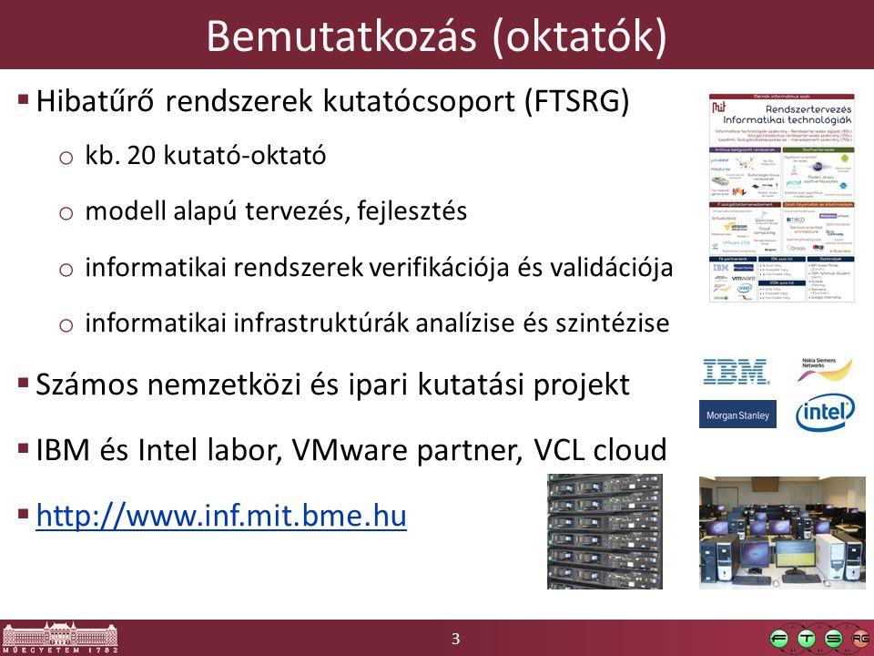 3 Bemutatkozás (oktatók)  Hibatűrő rendszerek kutatócsoport (FTSRG) o kb.
