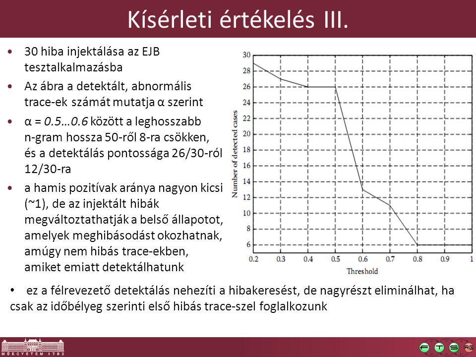 Kísérleti értékelés III.